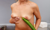 Anilos Zlata 22916 Mature housewife Zlata fucks her pussy using a vegetable shaped toy