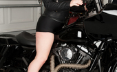 Anilos Victoria Tyler 22950 Badass biker mom gets naughty like a pin up on her motorcycle