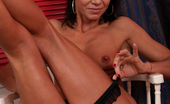 Anilos Victoria Blossom 22956 Big nippled milf in heels fingers her puffy shaved twat