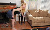 Anilos Venice Knight Anilos housewife Venice Knight plays with her shaved pussy while home alone