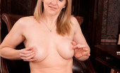 Anilos Tonya 23021 Anilos babe Tonya slips off her thongs and spreads her pink milf pussy