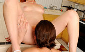 Anilos Sasha Brand Horny redhead Sasha Brand gets an intense hardcore fucking from a stud in the kitchen