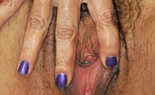 Anilos Persia Monir Totally naked busty milf stuffs her hairy Anilos pussy with a rabbit toy inside the shower