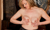 Anilos Louise Pearce Tempting milf grabs her natural tits and teases the camera