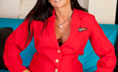 Anilos Lelani Tizzie Sexy flight attendant sheds her uniform and plays with her juicy snatch