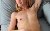 Anilos Josie Petite housewife slips off her dancing dress exposing her nude flesh