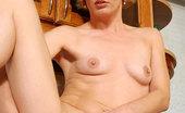 Anilos Daniela 24116 Experienced mature Anilos Daniela tortures her pussy with a thick bumpy dildo