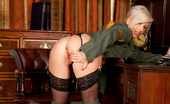 Anilos Charlie Z Military bombshell milf shows off her big hard nipples