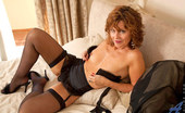 Anilos Cascade Anilos Cascade spreads her legs for a perfect view of her juicy milf pussy