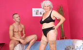 Anilos Betty Classy Anilos granny Betty gets what she wants as a horny stud pounds her seasoned pussy on the couch