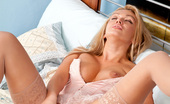 Anilos Amber Jayne Experience a real milf orgasm with Amber Jayne fucking her long dildo