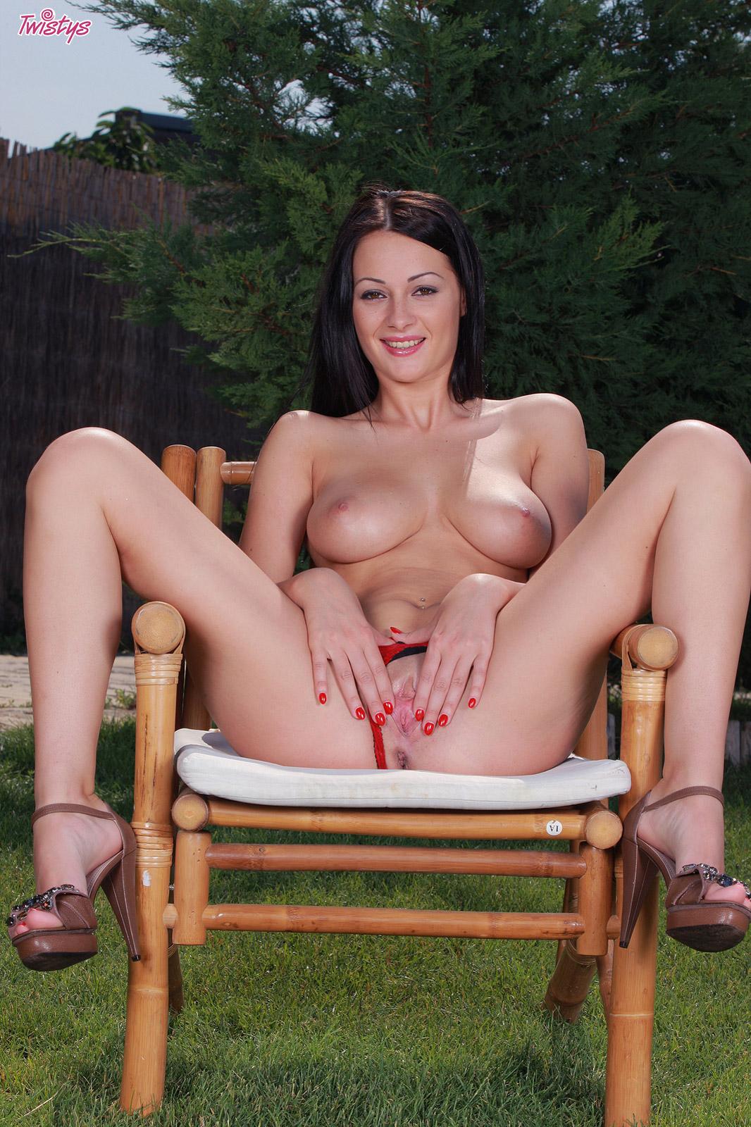 Dana weyron plays with her big tits 5
