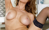 Twistys Emily Addison Emily Addison inserts her fingers against her aroused clit