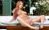 Twistys Jayden Cole Jayden Cole moans to stimulating her pink pussy.