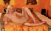 Twistys Gitta Blond Gitta Blond having a late night pussy play
