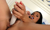 Twistys Lizzy Lizzy teases her audience with a lollipop then gets herself off with a vibrator