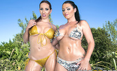 Brazzers Sophie Dee,Kelly Divine Wet By The Pool Kelly Divine and Sophie Dee are dancing by the pool. Keiran is laid back watching them, when they ta...