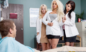 Brazzers Brooklyn Blue Dr. Blue's on the Blow-Job Training Dr. Brooklyn Blue's brought a couple of her smokin' hot residents along on her rounds today. They wa...