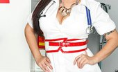 Brazzers Claire Dames Dr. Dreamy Cream Claire has just finished her shift at the hospital and turns on her favourite T.V. show starring Jam...