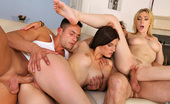 Reality Kings lili Lily labeu and her sister pounded hard in this screaming foursome fuck pic set