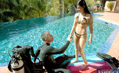 Naughty America Rebeca Linares Hot latina Rebeca Linares fucks poolside