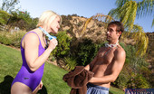 Naughty America Ash Hollywood Ash Hollywood finished her swim when she decides a hot fuck in the sun would be fun