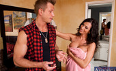 Naughty America Ariella Ferrera Ariella Ferrera sucks dick and gets fucked in the shower.
