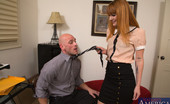 Naughty America Claire Robbins Redhead worker babe gets fucked by her boss and loves orgasm on the floor.