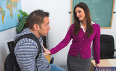 Naughty America India Summer Hot teacher India Summer meets with her student then fucks him on her desk.