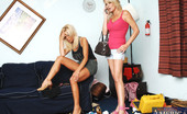 Naughty America Bridgett Lee 2 hot MILFs have threesome with one lucky guy.