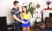 Naughty America Sara Luvv Bust brunette babe gets fucked by fellow classmate and loves riding cock.
