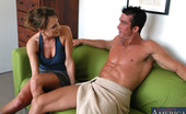 Naughty America Saskia Saskia is a hot milf and she fucks younger cock on the couch.