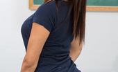 Naughty America Aria Arial Aria Arial fucks her teacher on his desk and has loud orgasms in the classroom.