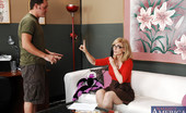 Naughty America Nina Hartley Busty MILF Nina Hartley has hot anal sex with younger thick cock.