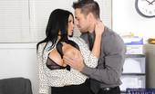 Naughty America Audrey Bitoni Gorgeous and busty Audrey bitoni is caught on the phone by her boss and fucks him so she can keep her job.