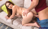 Naughty America Kiki Vidis Sexy babe Kiki Vidis has hot sex with her boyfriend's son and rides his cock on the couch.