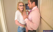 Naughty America Allie James Sexy blonde Allie James makes married guy cheat on his wife to fuck her pussy.