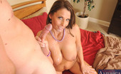 Naughty America Stacie Starr Busty brunette MILF Stacie Starr has hot sex with younger guy stealing her underwear and rides him on the bed