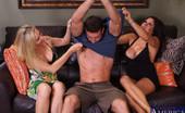 Naughty America Lisa DeMarco Lisa DeMarco & Teri Weigel have hot threesome with big cock guy.