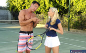 Naughty America Katie Summers Katie Summers decides to have sex with her tennis instructor.