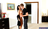 Naughty America India Summer Gorgeous babe India Summer decides to fuck her boyfriends son and ride his thick cock.