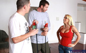 Naughty America Holly Halston Holly Halston fucks two younger guys and loves sucking and being fucked at the same time.
