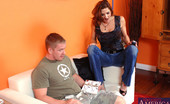 Naughty America Christina Noir Christina Noir is horny and fucks guy who helps her out.
