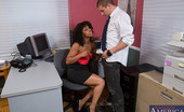 Naughty America Misty Stone Misty Stone fucks one of her employees because he was late to work.