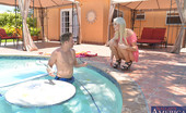 Naughty America Zoey Paige Zoey Paige decides to hop in the pool naked with her friends brother and then they fuck inside.