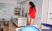 Naughty America Lexi Belle Lexi Belle is horny with her husband around watching so she decides to pleasure herself then fuck her husband.