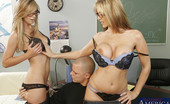 Naughty America Julia Ann Mrs. Ann & Mrs. Banner have hot threesome with one of their students.