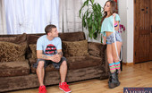 Naughty America Remy LaCroix Remy LaCroix has her hula hoop ready and is set to go hit up the rave with her boyfriend. He ditched her to go to work though. She decides to ask her boyfriend's son if he wants to take her, but raves aren't really his thing either, but fucking