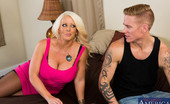 Naughty America Alura Jenson Hot cougar Alura Jenson is renting out one of her many houses. The potential renter is a college dude whose looking for a house for him and his bros to finish up the school year in. He swears to Alura that they are not big party animals, but she doesn&#03