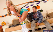Naughty America Phoenix Marie 33866 It's Halloween time and we have a treat for you, Phoenix Marie! Phoenix is roller skating over to Johnny's dad's house so they can go to the party together. She knocks on the door, but no body answers, she opens it only to be scared by John